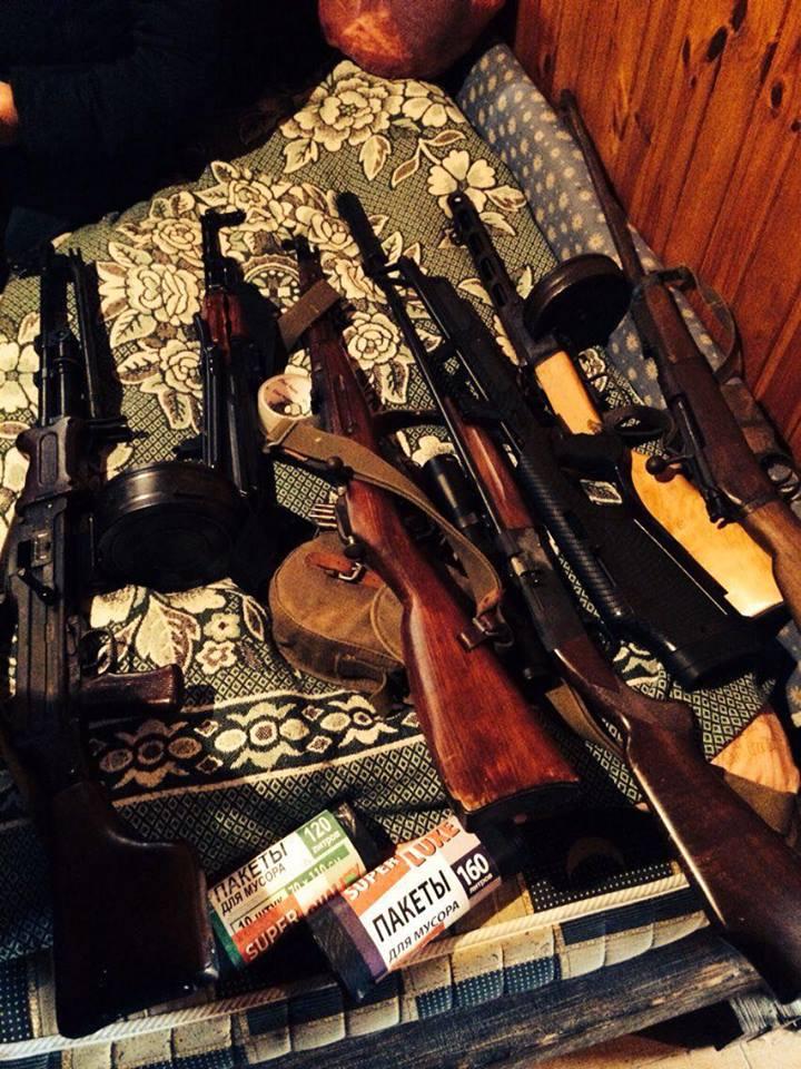 У жителя Одесской области нашли большой арсенал оружия