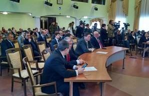 Выставления оценок за первый тур конкурса на голову Одесской ОГА (ВИДЕО)