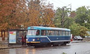 В Одессе стояли трамваи четырех маршрутов
