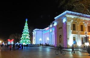 Новый год в центре Одессы в режиме онлайн (ВИДЕО)