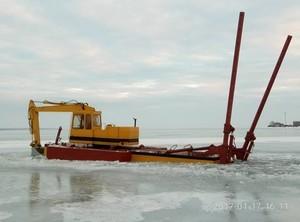В Одесской области воровали подводный кабель с помощью плавучего эскаватора (ФОТО, ВИДЕО)