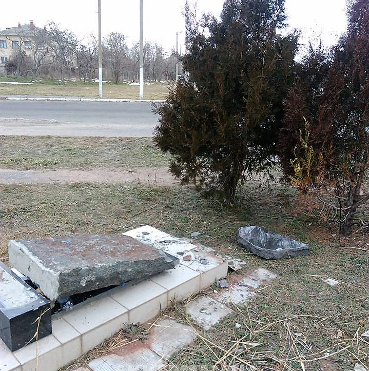 В Одесской области разрушен памятный знак, установленный на месте расстрела евреев