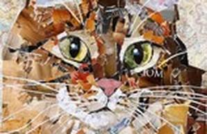 Мир-мур-арт: одесские коты из обрывков нотных станов и шоколадных оберток (ФОТО)