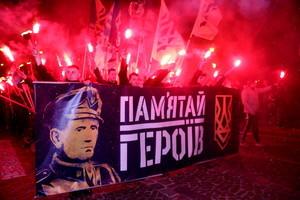 По Львову прошел огненный марш в память всех Героев Украины (ФОТО)