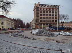 В Одессе начали разбирать трамвайные пути на улице Преображенской (ФОТО)