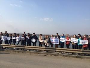 В Одесской области митингуют против строительства гидростанций на Днестре (ФОТО)