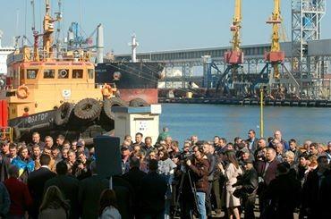 В одесском порту митинговали работники портофлота