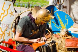 На Дерибасовской расположился лагерь римских легионеров