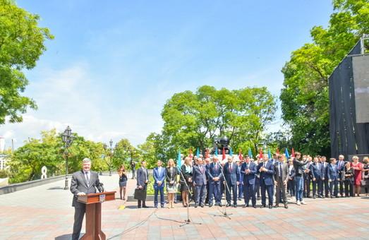 Как в Одессе Стамбульский парк с президентом открывали (ФОТО)