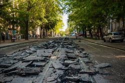 В Одессе снимают трамвайные рельсы: реконструкция Преображенской продолжается