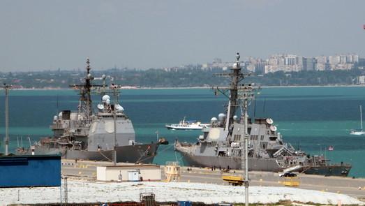 """В Одессе начался """"Си-Бриз"""" и пришли американские корабли: ракетный крейсер и эсминец (ФОТО)"""