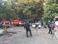 В Одессе снова горит дом Руссова