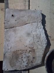 Надгробье с еврейской могилы, превращенное в румынскую табличку