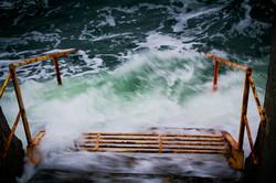 Вечерний Ланжерон: пустой пляж и осенний прибой (ФОТО)