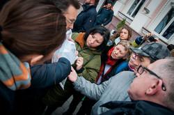 Одесситы вышли на защиту Дворца Моряков (ФОТО)