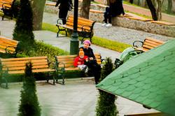 Первый день зимы в Одессе на Приморском бульваре (ФОТО)