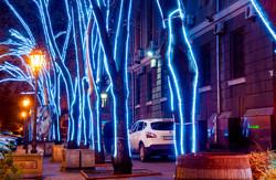 Главная улица Одессы преобразилась накануне новогодних праздников (ФОТО)