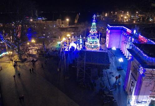 Новый год в Одессе - онлайн (ВИДЕО)