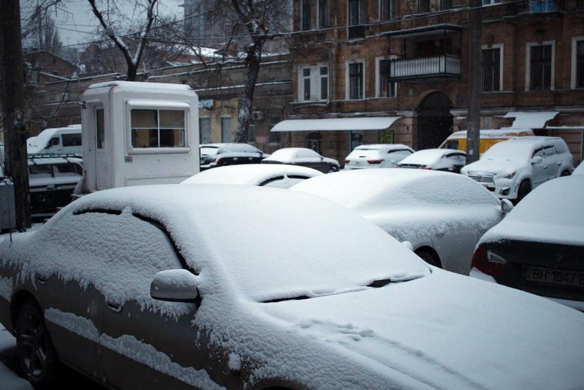снегопад сегодня в одессе фото