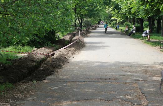 В Одессе начали благоустраивать северную часть парка Победы