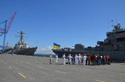 В Одессе американский адмирал похвалил украинский военный флот