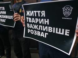 Очередной протест зоозащитников у Одесского цирка (ФОТО)
