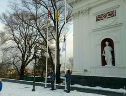 Военно-морской флаг Украины реет над Одессой (ФОТО)