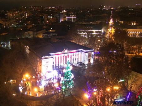 Одесса отмечает Новый Год (видеотрансляция)
