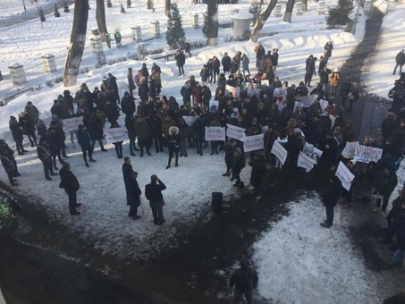 """Одесских студентов использовали в качестве """"титушек"""" для акции под Минздравом"""