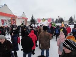 Подольск подложил Одессе гигантскую снежную свинью (ФОТО)