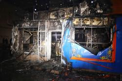 В Одессе сгорело казино (ВИДЕО)