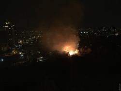 Сильнейший пожар в Одессе на территории Межрейсовой базы моряков