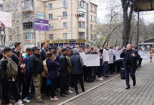 В Одессе требовали отставки главного налоговика