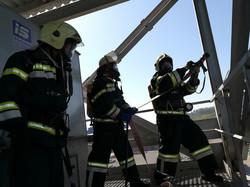 В Одесском порту проводили учение спасателей