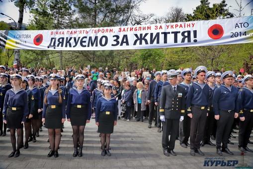Будущие моряки прошли парадным маршем по Одессе (ФОТО, ВИДЕО)