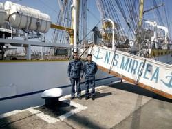 Одесские курсанты стажируются на румынском военном паруснике