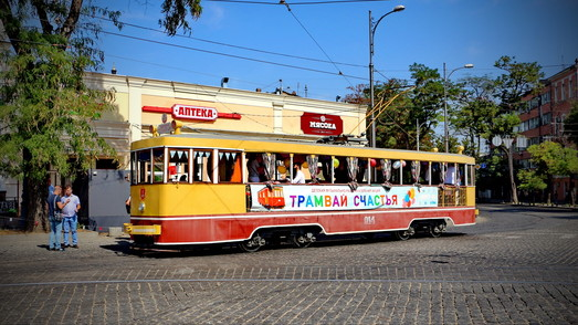 В воскресенье 2 июня по улицам Одессы будет курсировать «Трамвай счастья»