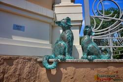 В Одессе увековечили поющих котов