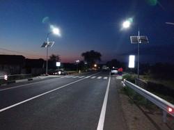 В Одесской области на автотрассе устанавливают солнечные панели