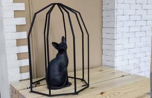 В Одессе появился ещё один скульптурный кот
