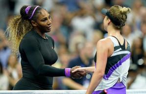 Серена Уильямс не пропустила Свитолину в финал US Open