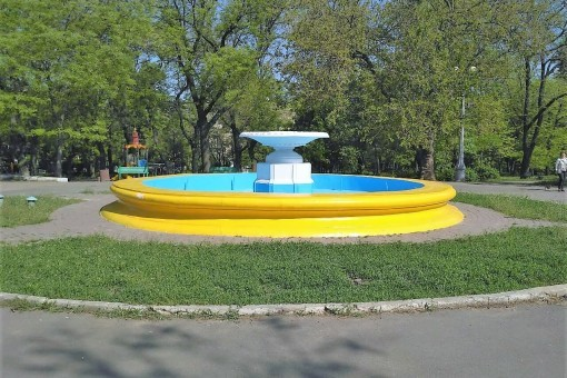 Фонтан в парке Шевченко не работает из-за вандалов