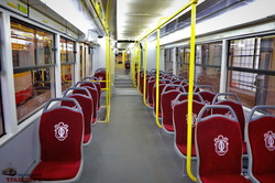 В Одессе представили многосекционный трамвай