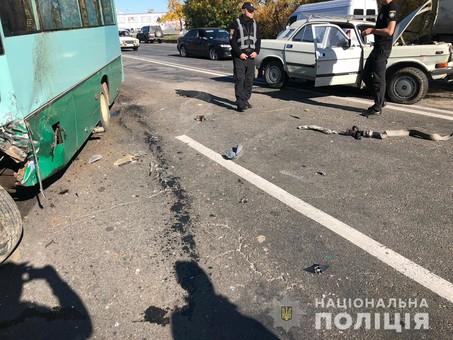 На Старокиевском шоссе произошло ДТП со смертельным исходом (фото, видео)