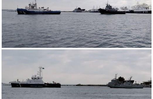 Возвращённые украинские корабли направляются в Очаков