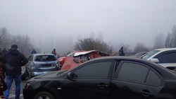 Сразу несколько ДТП из-за тумана произошло сегодня в Одессе