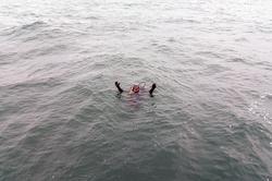 Курсанты одесской водолазной школы отрабатывали погружения в открытом море