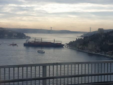 Грузовое судно, шедшее из Одессы, врезалось в набережную Стамбула