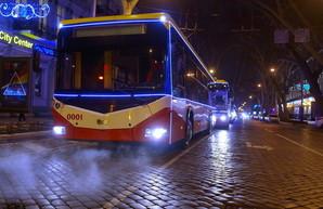 Одесский общественный транспорт в Новый год будет работать всю ночь
