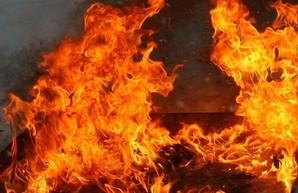 При тушении пожара в Одессе спасли двух человек